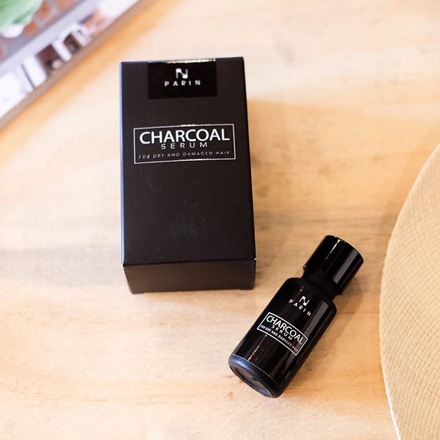 Charcoal Serum for Dry and Damaged Hair by Parin 15ml ชาร์โคล เซรั่ม เก็บเงินปลายทางฟรี ทั่วประเทศ